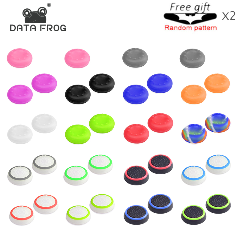 4 Pcs Silicone Analog Thumb Stick Grips Cover For PlayStation 4 PS4 Pro Slim For PS3 Controller Thumbstick Caps For Xbox One/360
