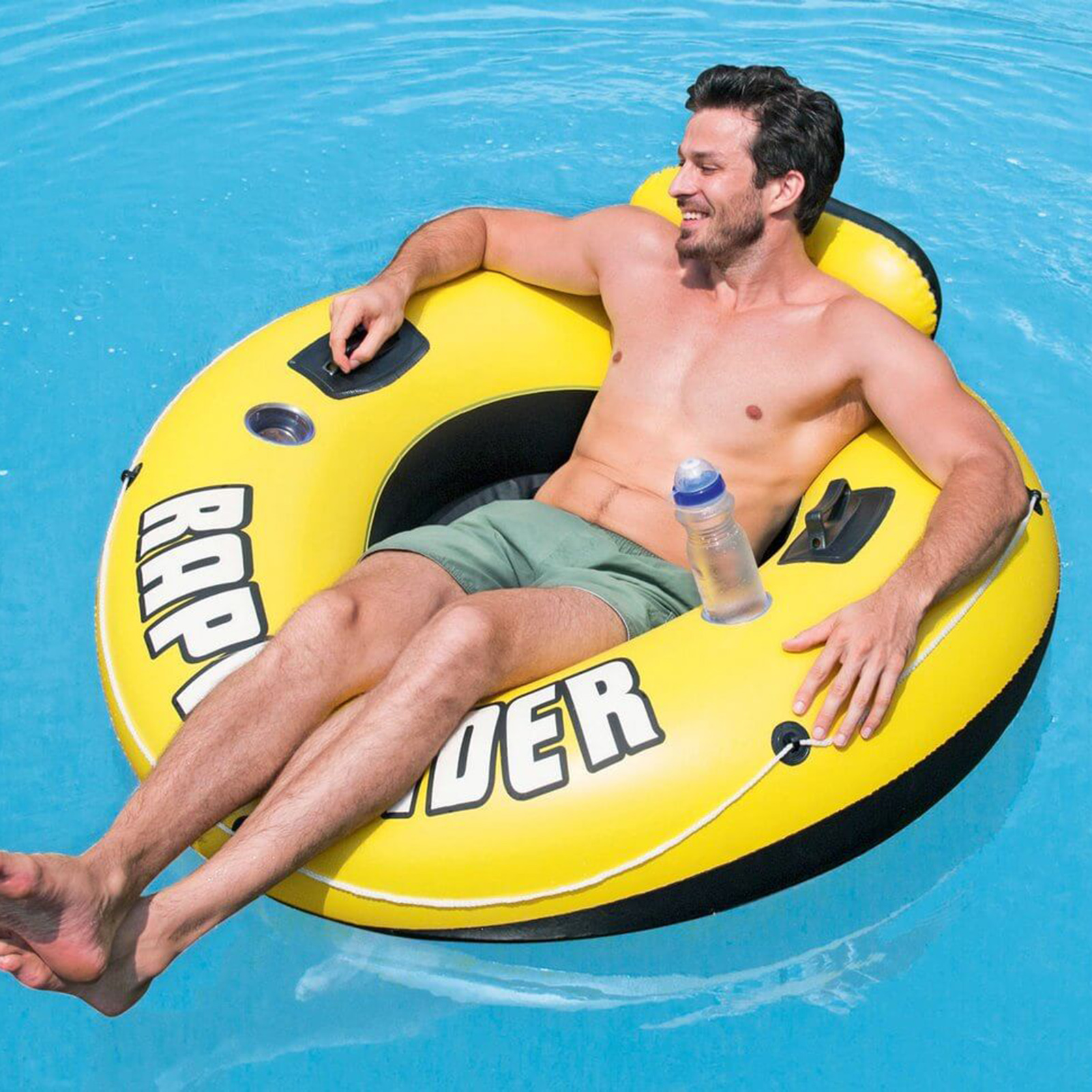 Inflatable Pool Float Summer Inflatable Fluorescent Swimming Ring Fun Pool Floatie Water Party Lounge Toys
