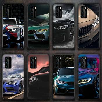 BMW Blue Red Car Phone Case for huawei P40 pro lite P8 P9 P10 P20 P30 psmart 2019 2017 2018 image