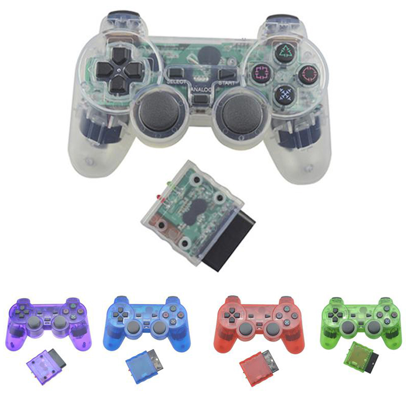 BEESCLOVER For Sony PS2 2.4G Wireless Analog Controller Bluetooth Gamepad for Play Station 2 Joystick for Dualshock 2 d30 image
