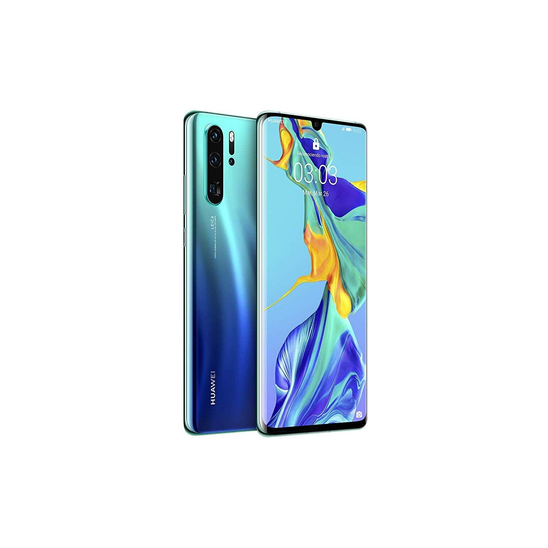 Huawei P30, couleur bleu aurore (bleu), double SIM, 128 go de mémoire interne, 6 go de mémoire vive, écran 6.1