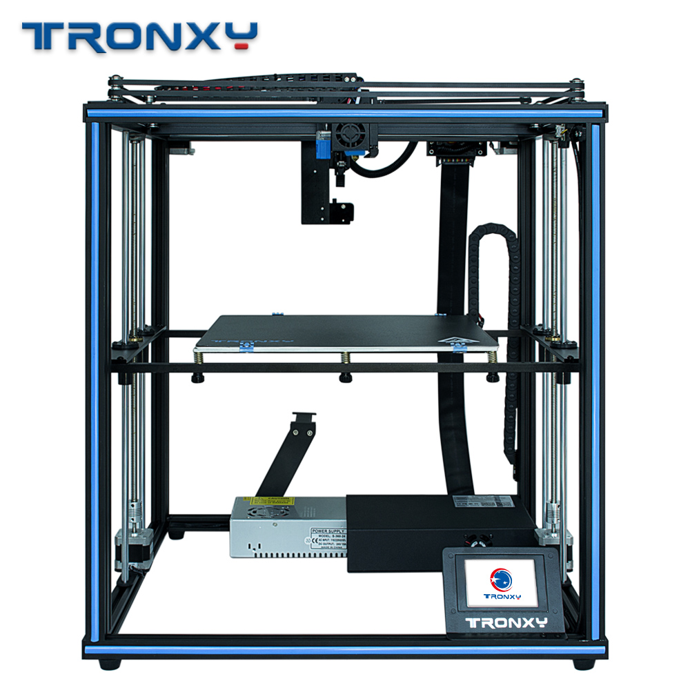 Tronxy 3D Drucker X5SA PRO Verbesserte Titan Extruder Doppel Achse Führungsschiene Drucker Lebenslauf Stromausfall Hohe präzision 3D Drucker