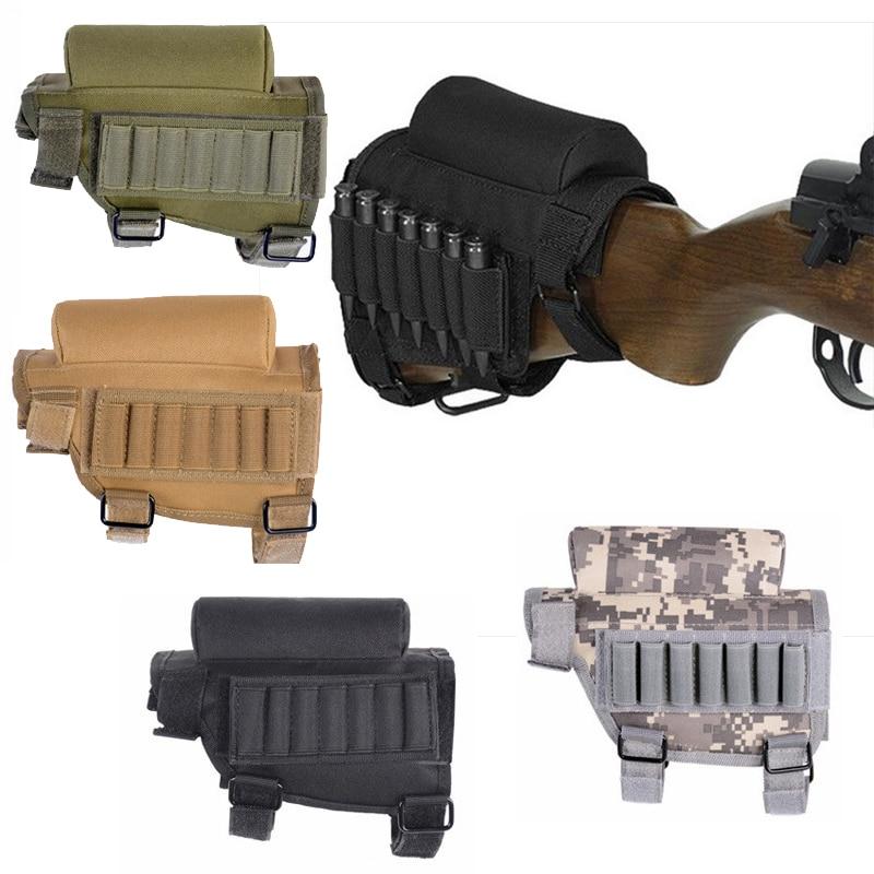 Portable Adjustable Bullet Holder Bag Tactical Butt Stock Rifle Cheek Rest Pouch