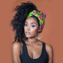 Bandana para cabeça africana, envoltório para cabeça de cera turbante para mulheres