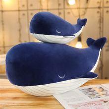 Новая синяя глубокая Морская жизнь пуховая хлопковая подушка