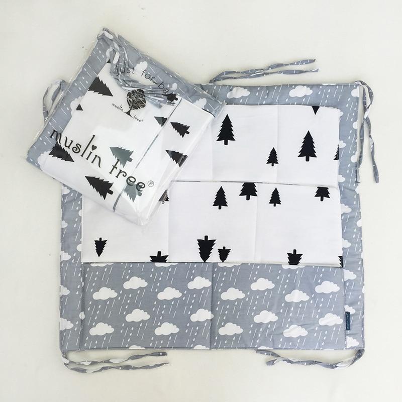 Mother & Kids ... Bedding ... 32689209281 ... 5 ... Muslin Tree Bed Hanging Storage Bag Baby Cot Bed Brand Baby Cotton Crib Organizer 60*50cm Toy Diaper Pocket for Crib Bedding Set ...