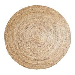 Сорняков ковер ручной работы светло-коричневый круглый джут ковер в сельской местности Стиль коврик на коврике арабских цифр для гостиницы...