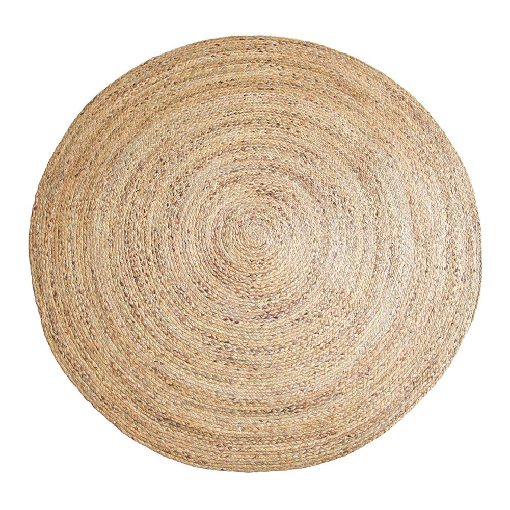 Weed Hand-Woven Carpet Tan Round Jute Rug Rural Style Floor Mat Floor Carpet For Hotel Living Room Decoration