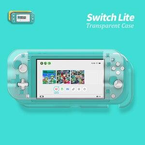 Image 2 - Étui en cristal PC rigide pour interrupteur, étui à couverture transparente pour interrupteur Nintendo Mini écran en verre trempé NS