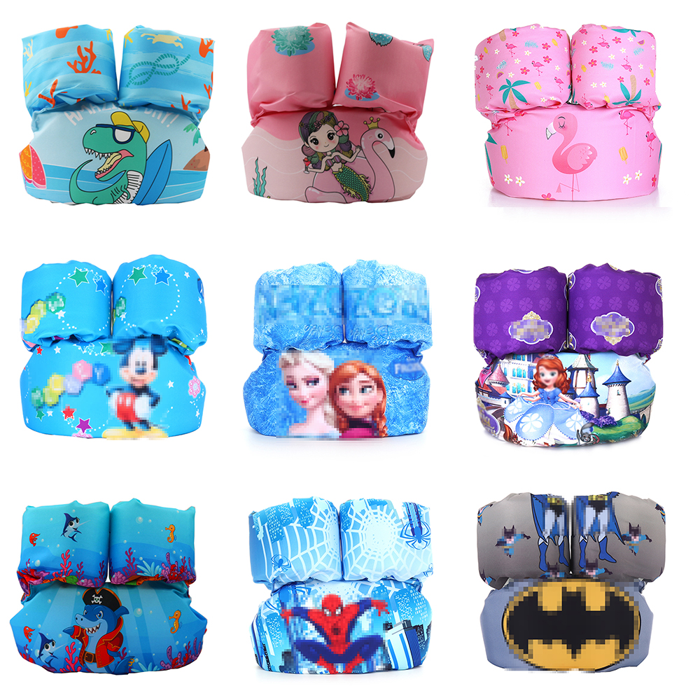 2019 New Puddle Jumper Kids Baby Life Vest Swim Rings Foam Cartoon Baby Arm Ring Buoyancy Vest Swimmin Circle Pool Accessories