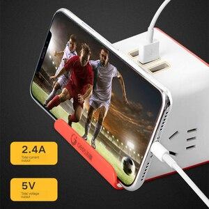 Image 5 - רב מפצל חשמל חכם עם טלפון אלחוטי מטען 3 USB טעינה 2 AC לשקע שולחן העבודה שקע מתג שולחנות 1.5M כבל AU Plug