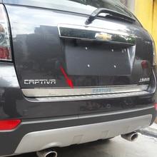 Для 2007- Chevrolet CAPTIVA Высококачественная хромированная Задняя Крышка багажника из нержавеющей стали отделка автомобиля Стайлинг