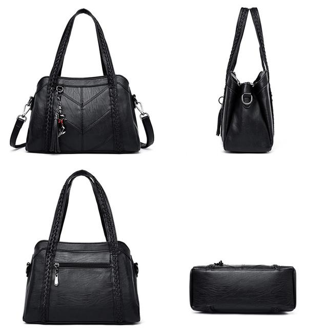 Soft Leather Tassels Tote Luxury Handbags Women Bags