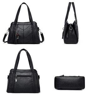Image 5 - Miękkie oryginalne skórzane frędzle Tote luksusowe torebki damskie torebki projektant panie ręcznie torby na ramię Crossbody dla kobiet 2020 Sac