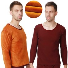 Super size men's winter underwear Plus thick cotton velvet round neck oversized warm cover clothing 9XL 8XL(China)
