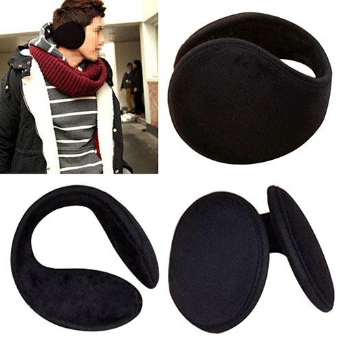 Unisex Black Winter Fleece Warmer Earmuff Winter Ear Muff Wrap Band Warmer Grip Earlap Christmas Gift