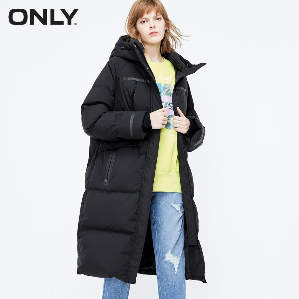 ONLY Women's Loose Fit Long Down Jacket | 119312558