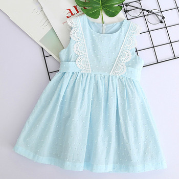 Girls Dress 2020 Summer Brand Girls Clothes Sleeveless Lace Vest Princess Dress for Girl Kids Party Dress for 2 6 7 Years