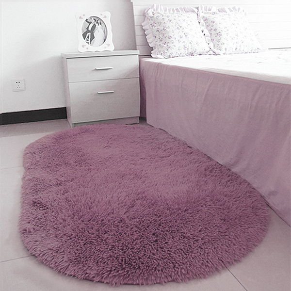 40*60CM Anti-Skid Fluffy Shaggy Area Rug Home Room Carpet Floor Mats Bedroom Bathroom Floor Door Mat Shag Rugs
