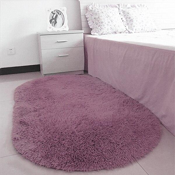 40*60CM Anti-Skid Fluffy Shaggy Area Rug Home Room Carpet Floor Mats Bedroom Bathroom Floor Door Mat Shag Rugs