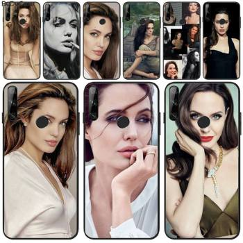 Angelina Jolie Phone Case For Huawei Y5 Y6 Y7 Y9 Prime Pro II 2019 2018 Honor 8 8X 9 9lite View9 image