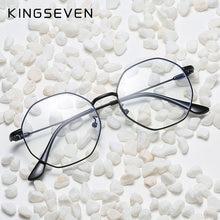 Kingseven metal anti blue ray glasses frame women myopia optical