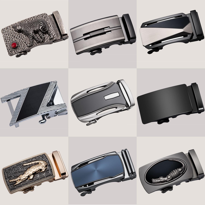 Men Alloy Automatic Belt Buckle Leather Belts Ratchet Business Waistband Buckles 3.5cm Width Belt Automatic Buckle Head DiBanGu