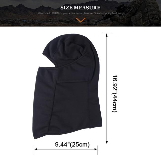 Winter Fleece Balaclava Black Full Face Mask Neck Warmer Thermal Head Cover Cycling Hood Liner Sport Ski Snowboard Scarf Hat Men 5