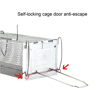 Behogar Two-door Mouse Pest Animal Mice Hamster Cage Control Repeller w/ Sensitive Trigger for House Home Farm Hotel 40x11x14cm 2