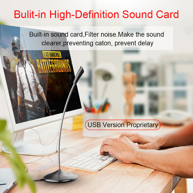 360 ° Computer Microphone Freely Adjust Study Speech Chat Games USB Microphone Desktop PC Laptop