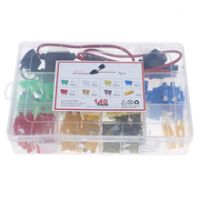 140pcs standard blade fuses TAP ATM APM blade fuse car, boat, truck replacement fuse holder kit set 5/7.5/10/15/20/25/30 Amp