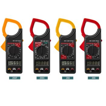 yellow/red Multimeter High-precision ABS Digital Voltage Clamp Meter Multifunctional Amp Volt Clamp image