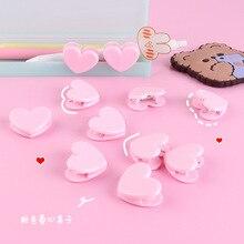 Folder Stationery Clip-Decoration Photo Kawaii Pink Set Paper Heart Student Cute Love