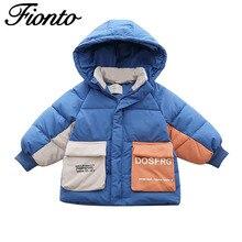 Детская одежда для мальчиков и девочек; Новая детская модная плотная теплая зимняя куртка с хлопковой подкладкой и рисунком