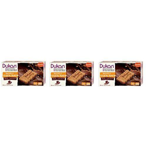 Dukan Lot De 3 Boites D'avoine Gourmet Avec Chocolat 12 Biscuits Croustillants Et Délicieux – [Lot De Savon Naturel Au Gris]