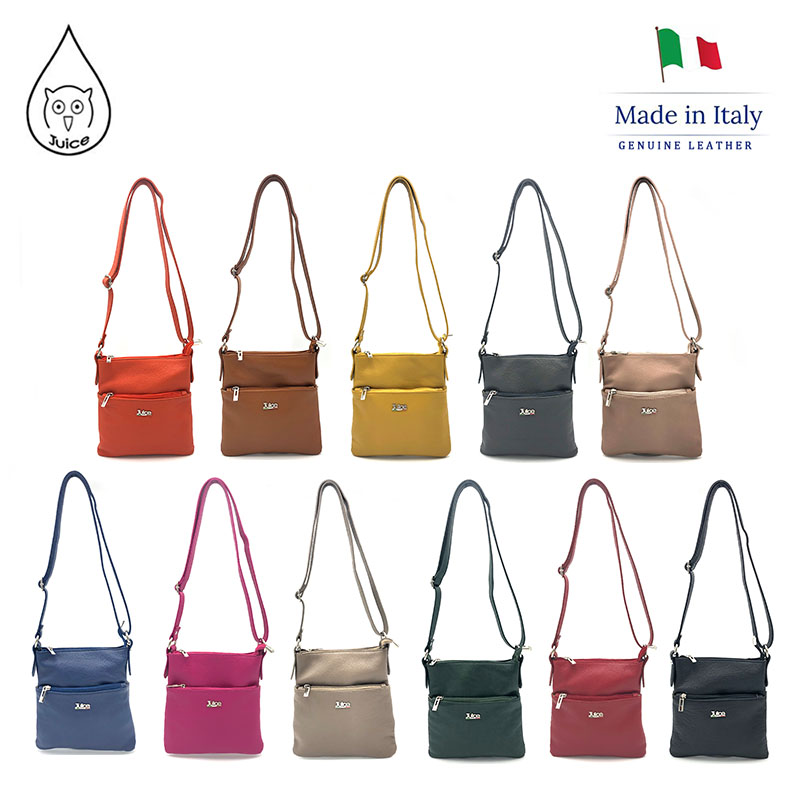 JUICE 2020 Spring,made in Italy, Genuine leather Bag, women bag,Women Shoulder Bags,cross body,112222