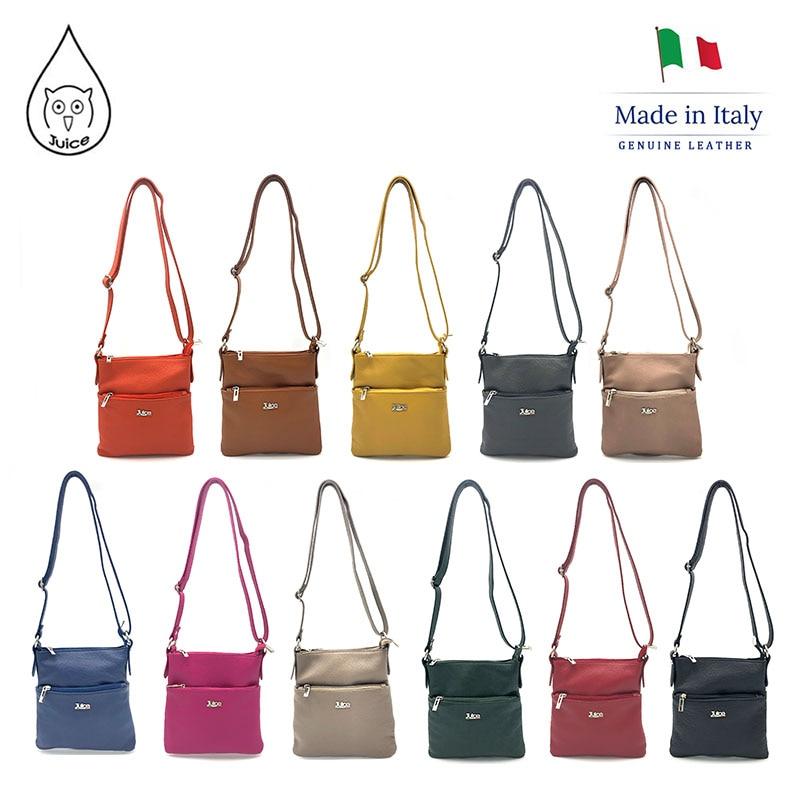 JUICE 2020 Spring,made In Italy, Genuine Leather Bag, Women Bag,Women Shoulder Bags,cross Body,112222