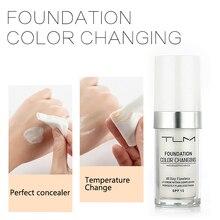 TLM, 30 мл, натуральный цвет, меняющий цвет, Жидкая основа, увлажняющая матовая основа, контроль над маслом, консилер, стойкий макияж, TSLM1