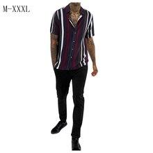 striped printed loose shirt blouse PU27