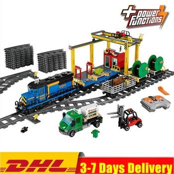 IN Stock Technic Train 02008 The Cargo Train 02009 Remote Control Buillding Blocks Bricks Toys Compatible 82008 60052 60098