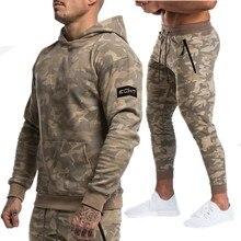 Long Sleeve Camouflage Hoodies+Pants