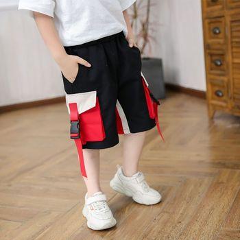 EACHIN spodenki chłopięce Teen Boy letnie spodenki dziecięce spodnie dla niemowląt dorywczo krótkie spodnie Cargo spodnie sportowe w pasie chłopiec ubrania tanie i dobre opinie COTTON POLIESTER Dobrze pasuje do rozmiaru wybierz swój normalny rozmiar Chłopcy B00153 Na co dzień Troczek Patchwork