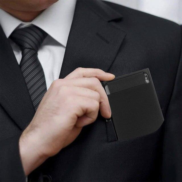 Portefeuille Pop-Up pour hommes et femmes, carte d'identité RFID, Mini paquet, sac de rangement d'équipement de protection en aluminium et métal, à dégagement rapide intelligent 2