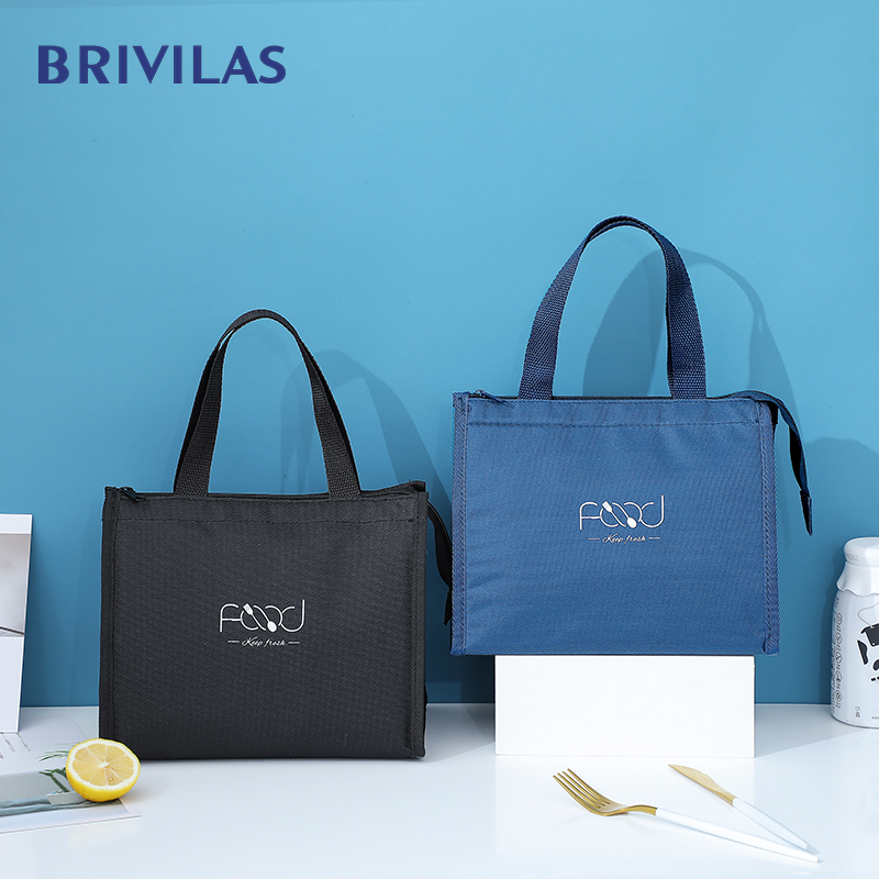 Brivilas New Lunch Bag For Women Cooler Portable Hand Zip Food Bags Waterproof Picnic Travel Breakfast Thermo Bag High Quality