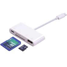 4in1 OTG kart okuyucu iOS telefon SD TF hafıza kartı yazar USB kamera bağlantı kiti adaptörü iPhone 11 Pro XS MAX XR 6 7 8 iPad