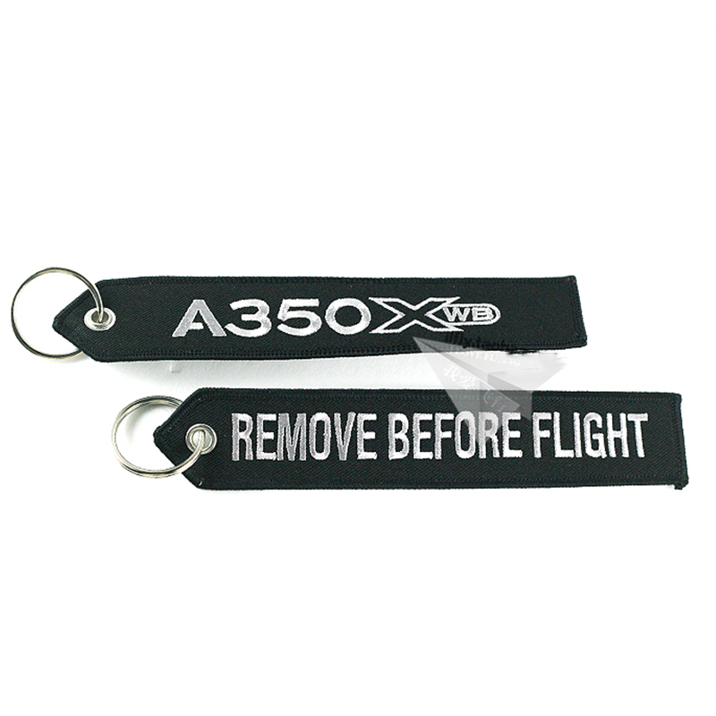 New Airbus Logo A350 XWB Embroider Key Ring Chain Travel Gift For Flight Crew Pilot Aviation Lover