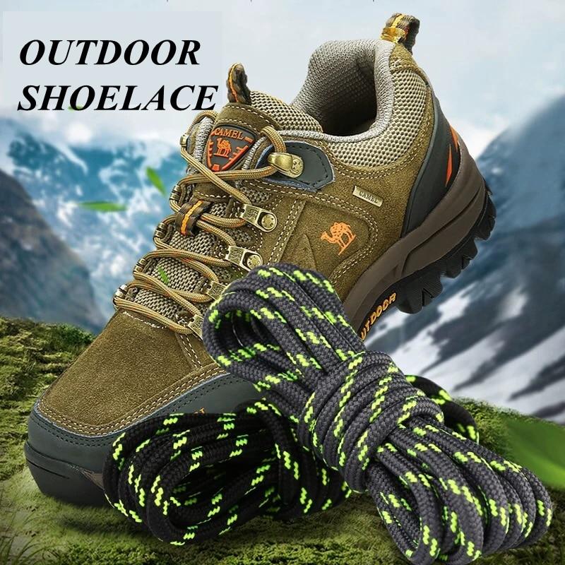 1Pair Round Shoelaces Outdoor Hiking Sports Shoe Laces Kids Sneakers Shoelaces Length 100/120/140/160CM Lacets Baskets 19 Colors