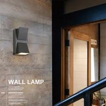 6W Outdoor Wall Lamp Led Waterproof Outdoor Wall Lights Building Exterior Gate Balcony Garden Yard Lighting Fixtures