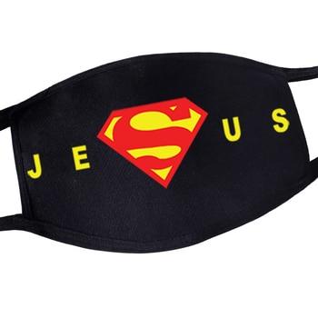 Super man Jesus Super Hero Anti Dust Mask Kawaii For Mens Reusable Mouth Mask Protection Muffle Flu Face Masks Maska Mascarilla