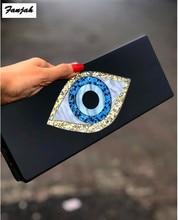 Solidny czarny, patchworkowy brokat Evil Eye akrylowe pudełko z pcv z tworzywa sztucznego Lady Summer Beach Travel ręczniki wieczorowe torebki damskie akrylowe torebki